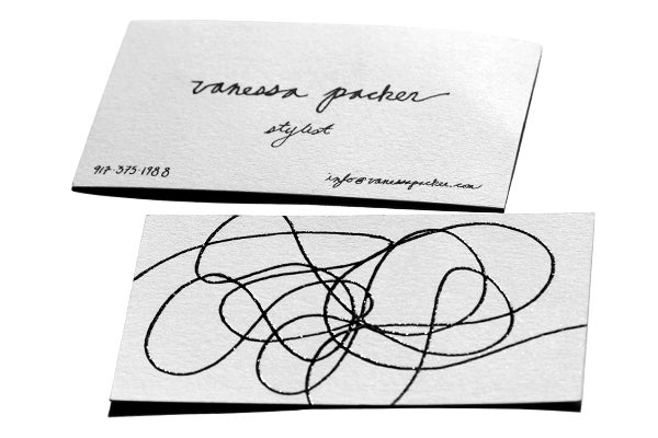 Vanessa Packer Stylist Business Card