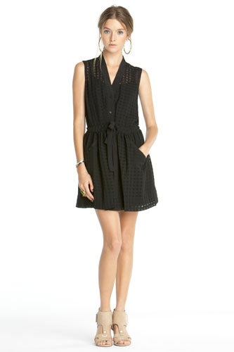 black summer dress by Rachel Roy