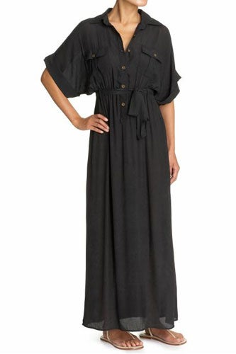 black maxi dress for beach