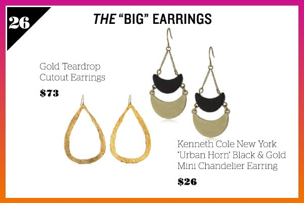 Summer Wardrobe Essentials - Big Earrings