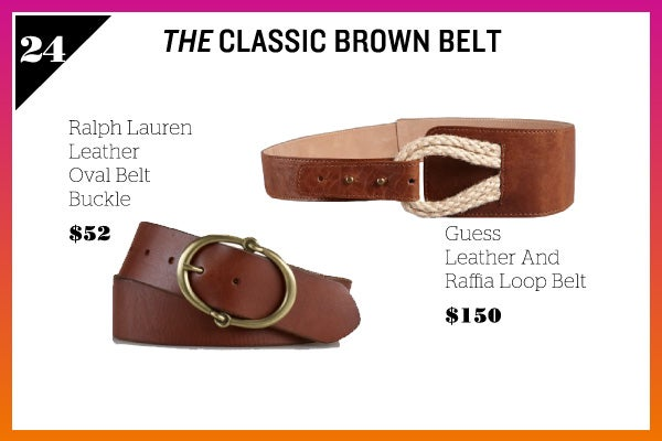 Summer Wardrobe Essentials - Brown Belt