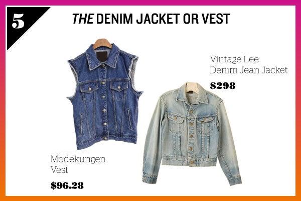Summer Wardrobe Essentials - Denim Jacket Vest