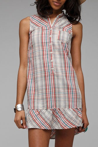 plaid tank top dress for summer