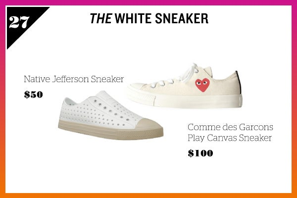 Summer Wardrobe Essentials - White Sneaker
