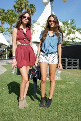 Coachella street style 2011- sisters