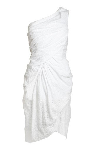 white strapless dress for summer