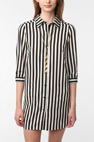 stripped boyfriend shirt- dress for summer